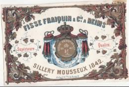 +/- 1840-1850, REIMS, FISSE FRAIQUIN & Cie, SILLERY MOUSSEUX 1842 - Champagne