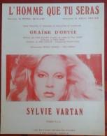 """Partition Sylvie VARTAN """"L'Homme Que Tu Seras"""" Paroles Michel MALLORY Musique Eddie VARTAN - Partitions Musicales Anciennes"""