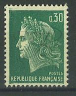 VEND BEAU TIMBRE DE FRANCE N°1611 , MACULAGE EN HAUT , XX !!!! - 1967-70 Maríanne De Cheffer