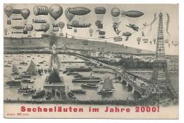 """POST CARD OF ZURICH , SECHSELÄUTEN IM JAHRE 2000 ! , 1909 , """" MONOPOL EDITION """" . - ZH Zurich"""