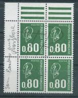 VEND BEAU TIMBRE DE FRANCE N°1891b EN BLOC DE 4 + BDF , SANS BANDE PHOSPHORE , XX !!!! - 1971-76 Marianne Of Béquet