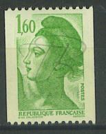 VEND BEAU TIMBRE DE FRANCE N°2222 , TRAIT EN HAUT A GAUCHE , XX !!!! - 1982-90 Liberty Of Gandon