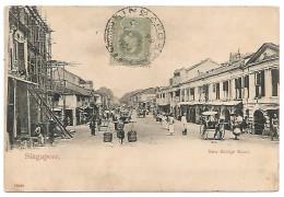 POST CARD OF SINGAPORE - NEW BRIDGE ROAD , 1904 . - Malaysia