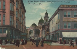 HARRISBURG - North Fourth Street, Looking Towards The Capitol, Harrisburg, PA. - Harrisburg