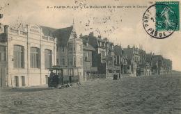 LE TOUQUET PARIS PLAGE - Le Boulevard De La Mer Vers Le Casino (tramway ) - Le Touquet