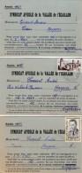 VP5283 - Carte Commerciale X 3 Du Syndicat Apicole De La Vallée De L'Egaillon ( ENGLEFONTAINE ) Pour HASPRES - Cartes