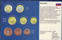 Slovaquie Sk1- 3 Stgl./unzirkuliert Mixte Années Stgl./unzirkuliert Ab 2009 Kursmünze 1, 2 Et 5 Cent - Slowakei