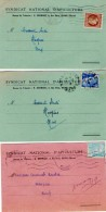 VP5284 - Carte Commerciale X 3 Du Syndicat National D´Apiculture De REIMS Pour HASPRES - Cartes