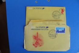1985  -     TOURS     EXPOSITION  PHILATELIQUE   NATIONALE    2   AEROGRAMMES             2  PHOTOS - Gedenkstempel