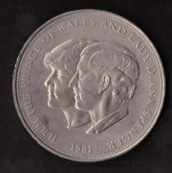 THE UNITED KINGDOM - ELIZABETH II - D -C - REG - F - D - H.R.H. - THE PRINCE OF WALES AND LADY DIANA SPENCER - 1981 - - Monete