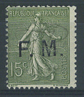 VEND BEAU TIMBRE DE FRANCHISE MILITAIRE DE FRANCE N°3 , NEUF !!!! - Franchise Stamps