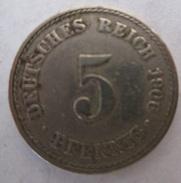 ALLEMAGNE 5 PFENNIG 1906 - [ 2] 1871-1918 : Imperio Alemán