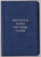 BRITAIN'S FIRST DECIMAL COINS - PRIME MONETE DECIMALI DELLA GRAN BRETAGNA - 5 VALORI - ANNO 1968 - - Monete
