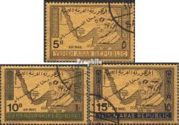 Yémen Du Nord (arabes Rep.) 734-736 (complète.Edition.) Oblitéré 1968 Dr. Konrad Adenauer - Yémen