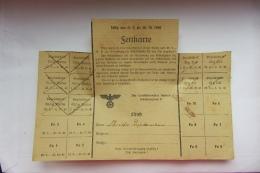 Ticket De Rationnement Pour Des Matières Grasses 1940 Ernolsheim Saverne - Historical Documents