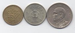 Taïwan : Lot De 3 Pièces (An Taïwanais 56-66) - Taiwan