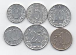 Tchécoslovaquie : Lot De 6 Pièces Différentes 1953-1985 - Czechoslovakia