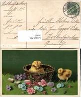 76465,EAS Ostern Küken Ostereier Korb Blumen - Fotografie