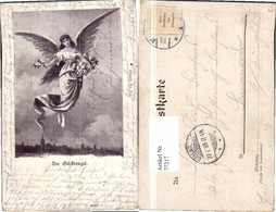 77217,Glücksengel Engel Am Himmel Blumen - Engel