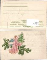77229,Präge AK Erika 752 Weihnachten Engel Litho - Engel