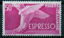 PIA - ITALIA - Specializzazione - 1956 : Espresso  £ 50- (SAS  33/I - CARRARO  11) - 6. 1946-.. Repubblica