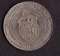 TUNISIA - TUNISY - COIN -  MONETA DA 1 DINAR - 2011 - 1432 - - Tunisia