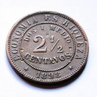 Chile - 2 1/2 Centavos - 1898 - Chile