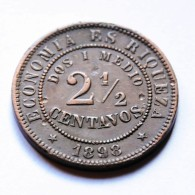 Chile - 2 1/2 Centavos - 1898 - Chili