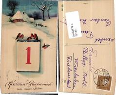 79185,EAS 1205 Neujahr Vögel Kalenderblatt Kalender Haus - Fotografie