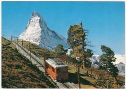 Wallis: ZUG / TREIN / TRAIN - Matterhorn Und Riffelalp - 4482 M -  (Suisse/Schweiz/CH) - Treinen