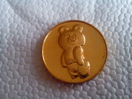 Vintage 1980 Original Moscow Olympic Games ALUMINIUM  Misha Bear Rare - Apparel, Souvenirs & Other
