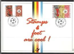 Herdenkingskaart - Carte-souvenir Europees Kamp.voetbal  2892 HK (cob ) Cote  : 8.50 Euro - Cartes Souvenir