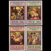 NIUE 1991 - Scott# 599-602 Paintings Set Of 4 MNH - Niue