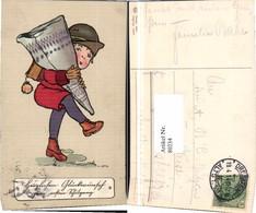 80234,EAS Karikatur Mädchen Riesen Schultüte Schulgang Einschulung - Fotografie