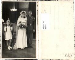 81035,Hochzeitsfoto Soldat Wehrmacht Braut Kind Uniform - Hochzeiten