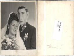 81778,WW2 Hochzeitsfoto Soldat Wehrmacht Braut - Hochzeiten