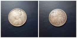 India Britanica    One Rupee   1862  Victoria Queen   Silver     11,60g - Colonias