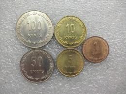 Myanmar Set : 1 - 100 Kyats 1999 UNC - Myanmar