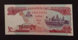 Cambodia Cambodge 500 Riels UNC Banknote 1991 - P#38 - Cambodia