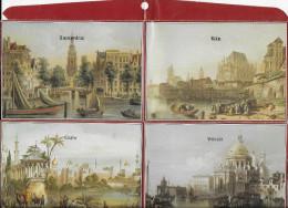 Très Ancien Présentoir De Cartes Postales ..-- AMSTERDAM , KOLN , GENEVE , BRUXELLES , PARIS , SALZBURG , CAIRO , VENEZI - Cartes Postales