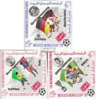 Yémen (Royaume-Uni) 1144B-1146B (complète.Edition.) Neuf Avec Gomme Originale 1970 Football-WM '70, Mexique - Yémen