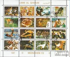 Umm Al Qaïwaïn 954A-969A Feuille Miniature (complète.Edition.) Oblitéré 1972 Jeux Olympiques Été `72 - Umm Al-Qiwain