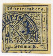 GERMAN STATES - WURTTEMBERG - 1851 - Mi 2 - 3 KREUZER - Wurttemberg