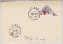 Russia 1969 Antarctica  Signature Cover (31297) - Poolfilatelie