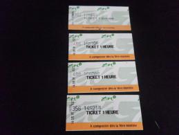 Ticket De BUS - NANTES 1 H X4 - Bus