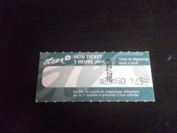 Ticket De BUS - NANTES 1 H - Bus