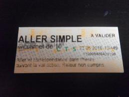 Ticket De BUS - STRASBOURG - Bus