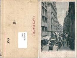 72011,Napoli Via Chiaia Kutschen 1905 - Taxi & Carrozzelle