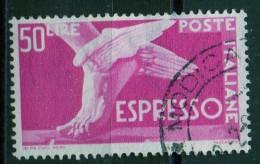 PIA - ITALIA - Specializzazione - 1952 : Espresso  £ 50 - (SAS  30/I - CARRARO  8) - 6. 1946-.. Repubblica