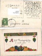 82997,Tolle Präge AK Thanksgiving Früchte - Küchenrezepte